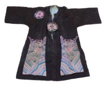 A Chinese embroidered robe,