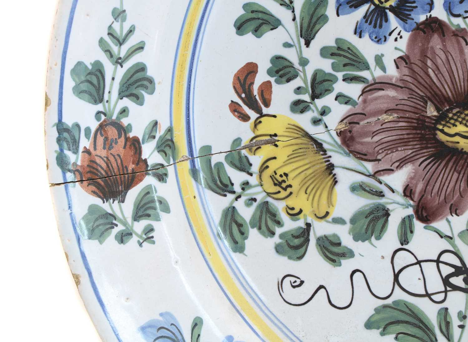 A Delft polychrome charger, - Image 5 of 5