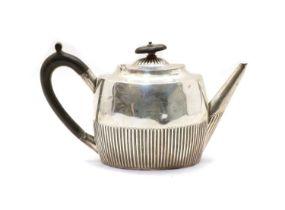 A Victorian silver teapot,