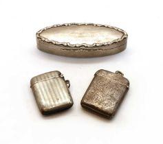 An Edwardian silver snuff box,