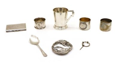Silver and silver plated items,