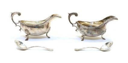 A pair of Silver Jubilee silver sauce boats by the Silver Club, London,
