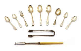 A set of three George III silver spoons,