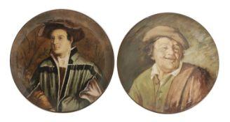 Two Émile Gallé chargers,