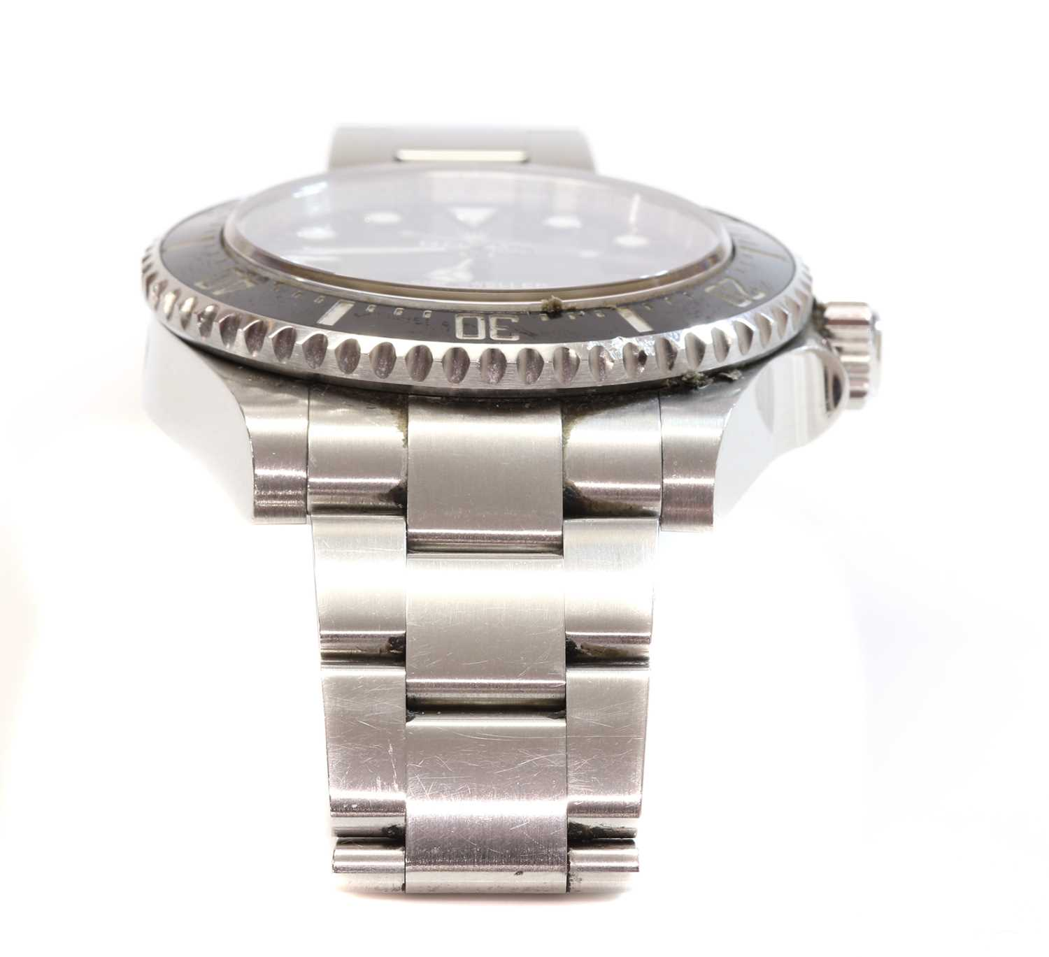 A gentlemen's stainless steel Rolex 'Oyster Perpetual Sea Dweller' automatic bracelet watch, c.2015, - Image 8 of 14