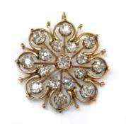 A late Victorian diamond set pendant,