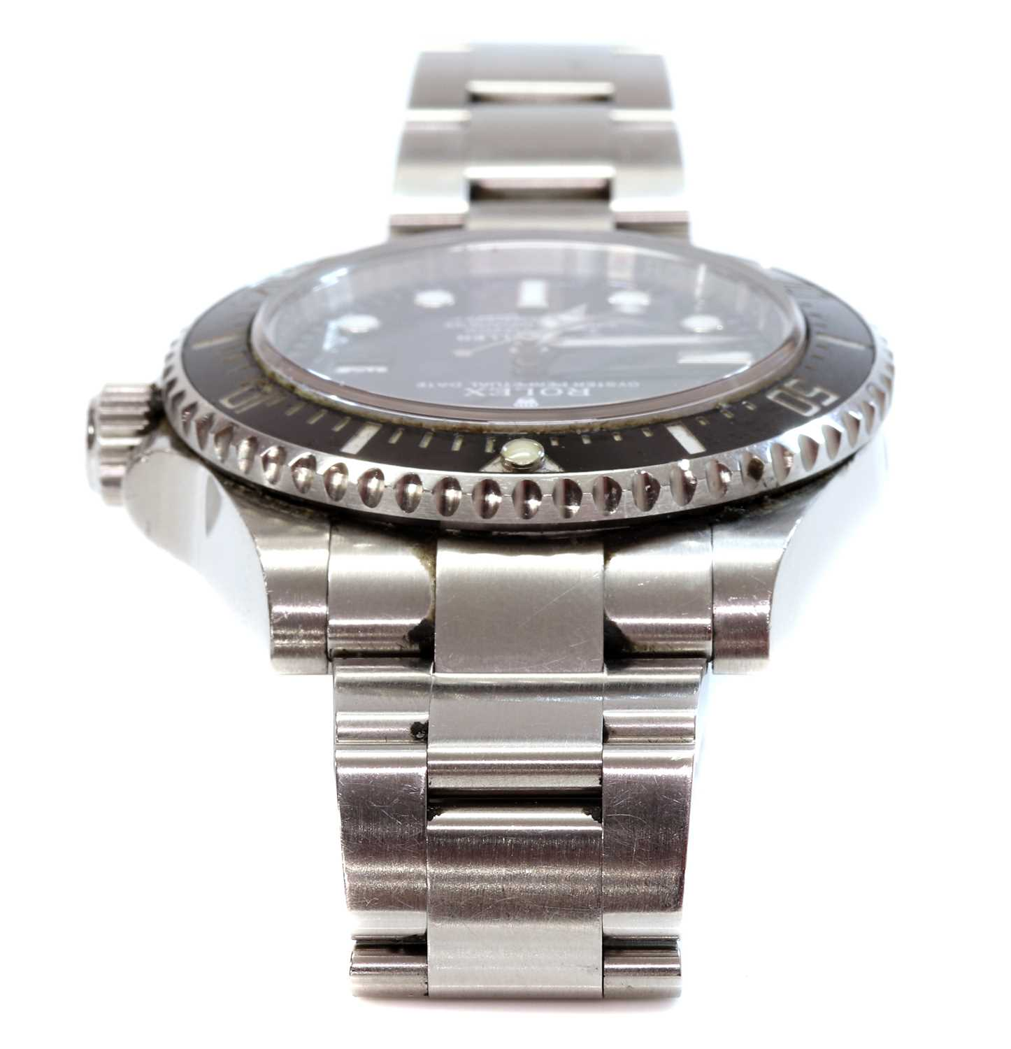 A gentlemen's stainless steel Rolex 'Oyster Perpetual Sea Dweller' automatic bracelet watch, c.2015, - Image 5 of 14
