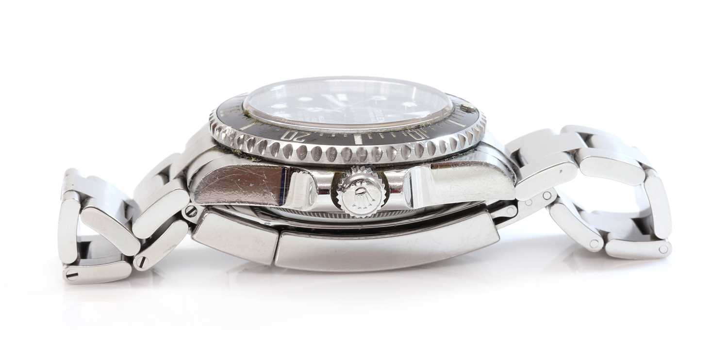 A gentlemen's stainless steel Rolex 'Oyster Perpetual Sea Dweller' automatic bracelet watch, c.2015, - Image 6 of 14