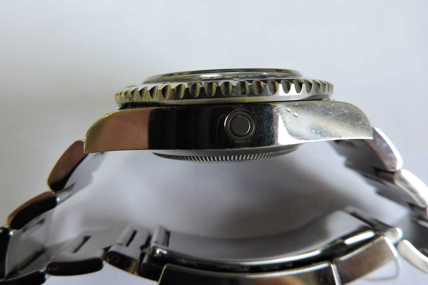 A gentlemen's stainless steel Rolex 'Oyster Perpetual Sea Dweller' automatic bracelet watch, c.2015, - Image 13 of 14