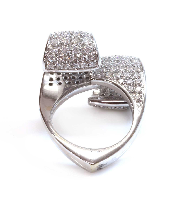 An Italian white gold diamond set ring by Io Si, - Image 3 of 4
