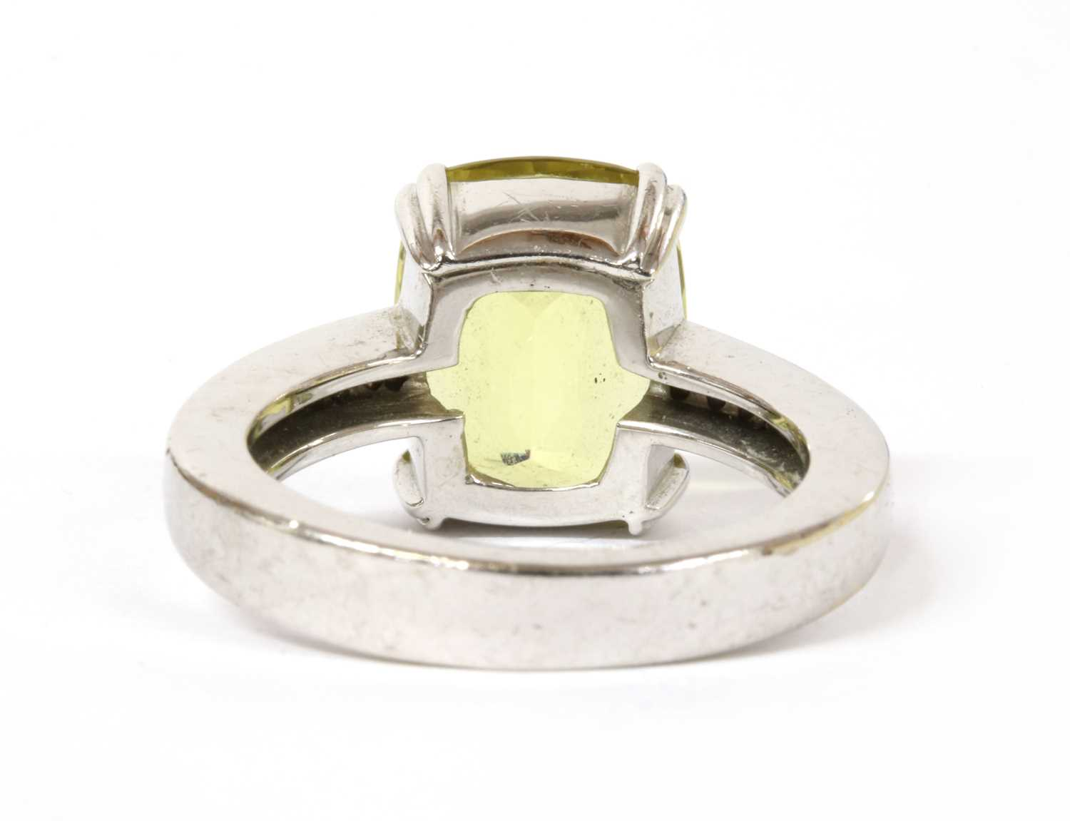 A gold heliodor and diamond ring, - Image 3 of 3