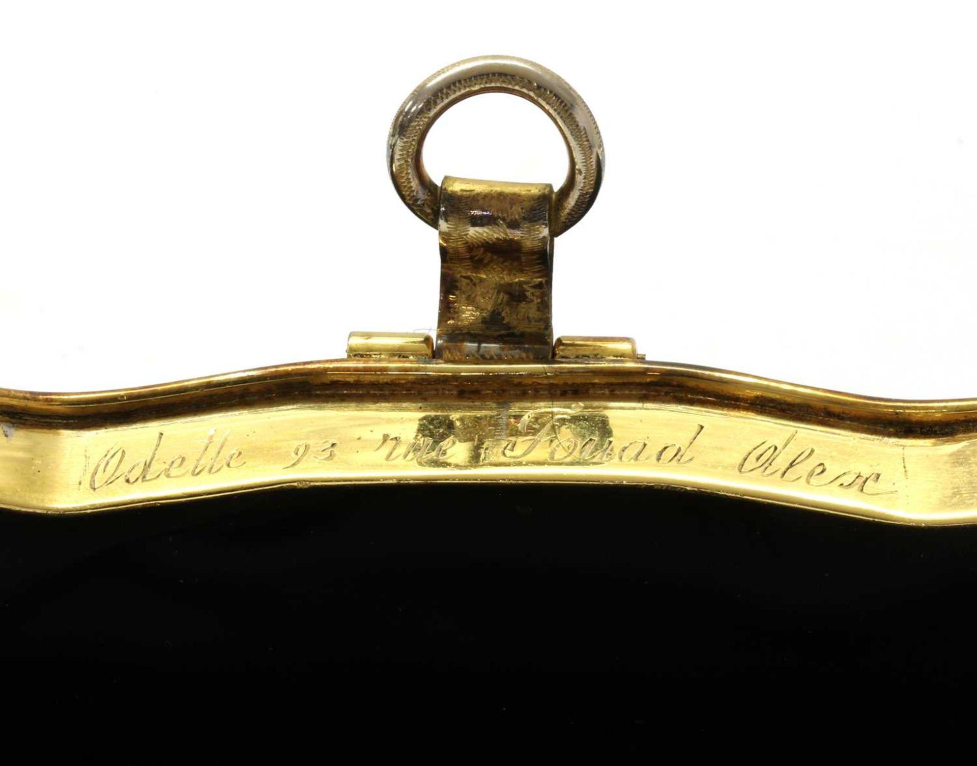A black grossgrain gem set evening clutch bag, c.1930 - Image 4 of 9