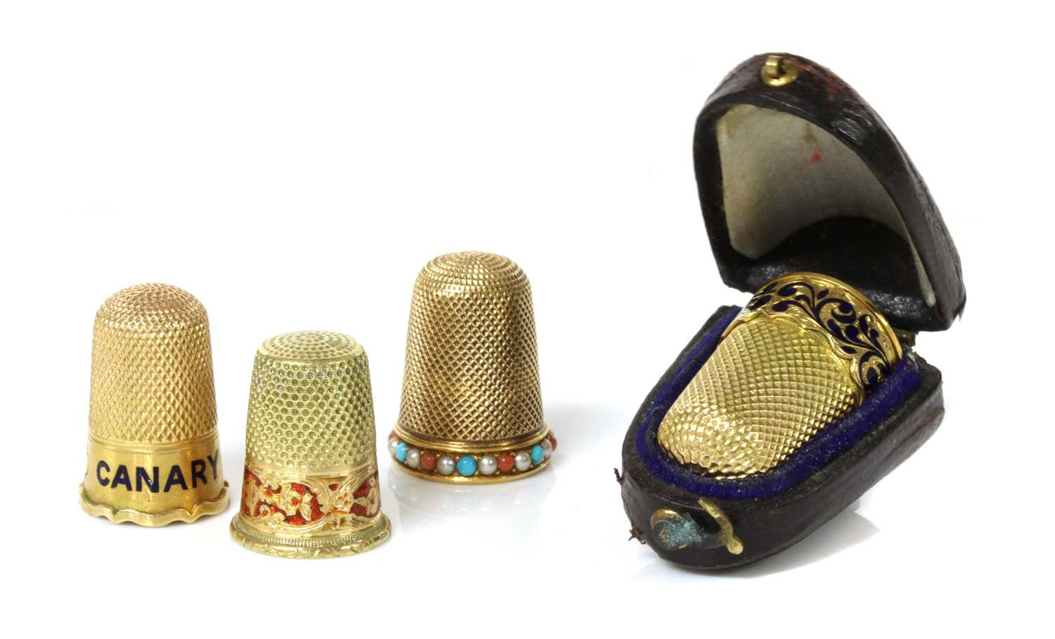 Of racing interest: a Victorian gold thimble,