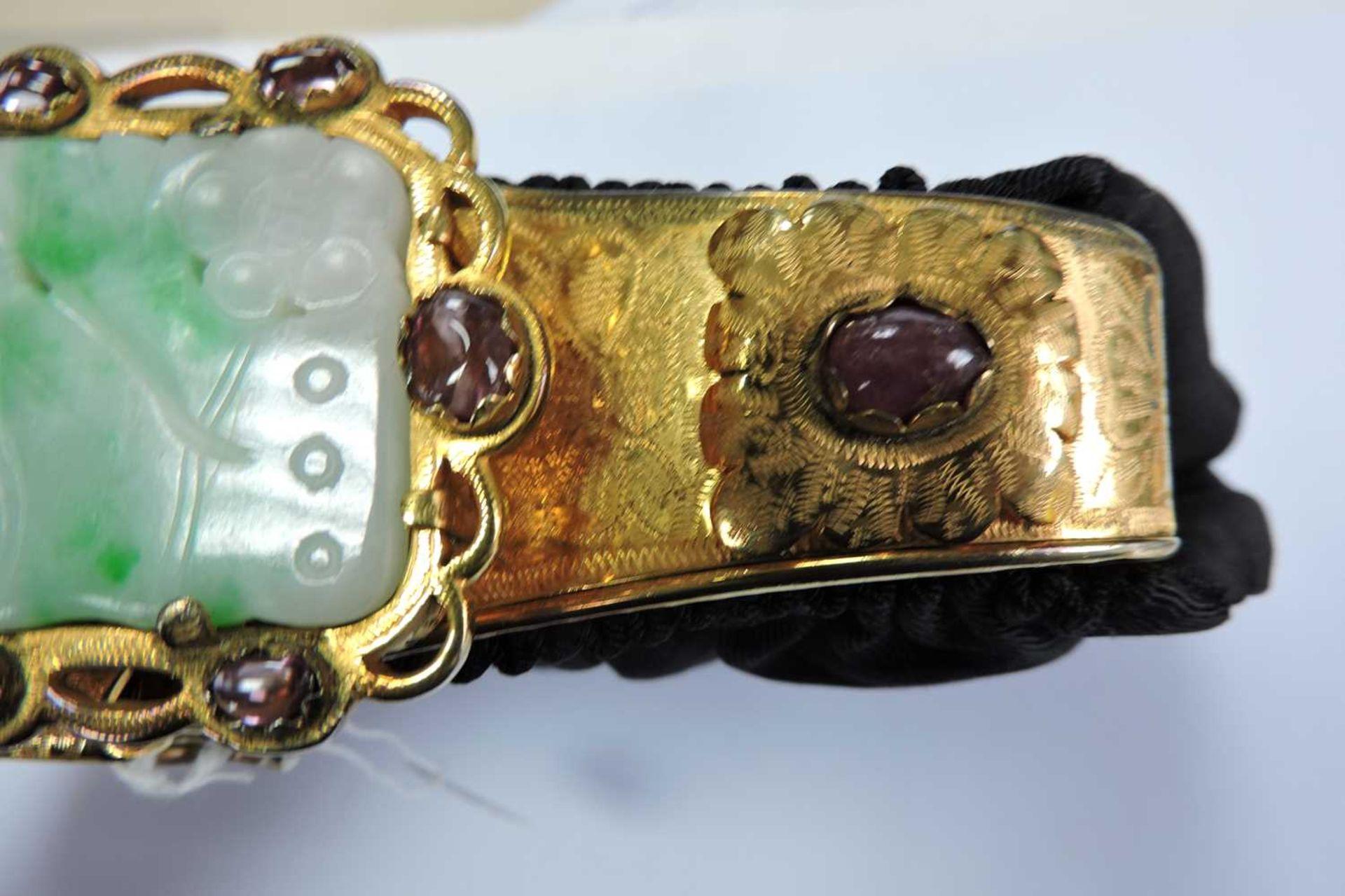 A black grossgrain gem set evening clutch bag, c.1930 - Image 9 of 9