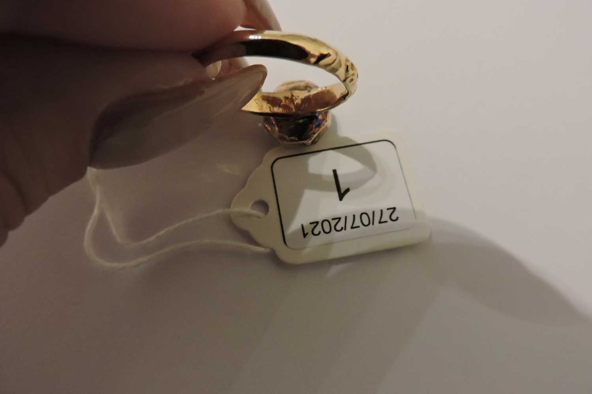An antique single stone smoky quartz ring, - Image 4 of 5