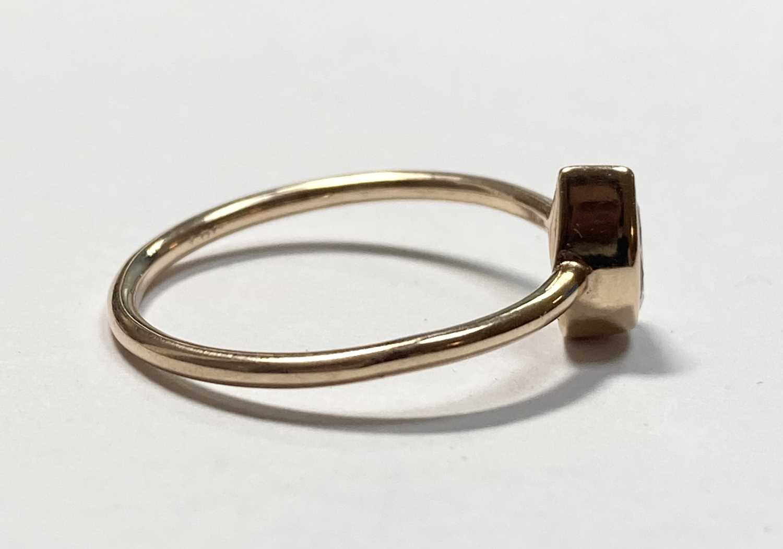 A rose gold single stone pear cut diamond ring, - Image 7 of 7