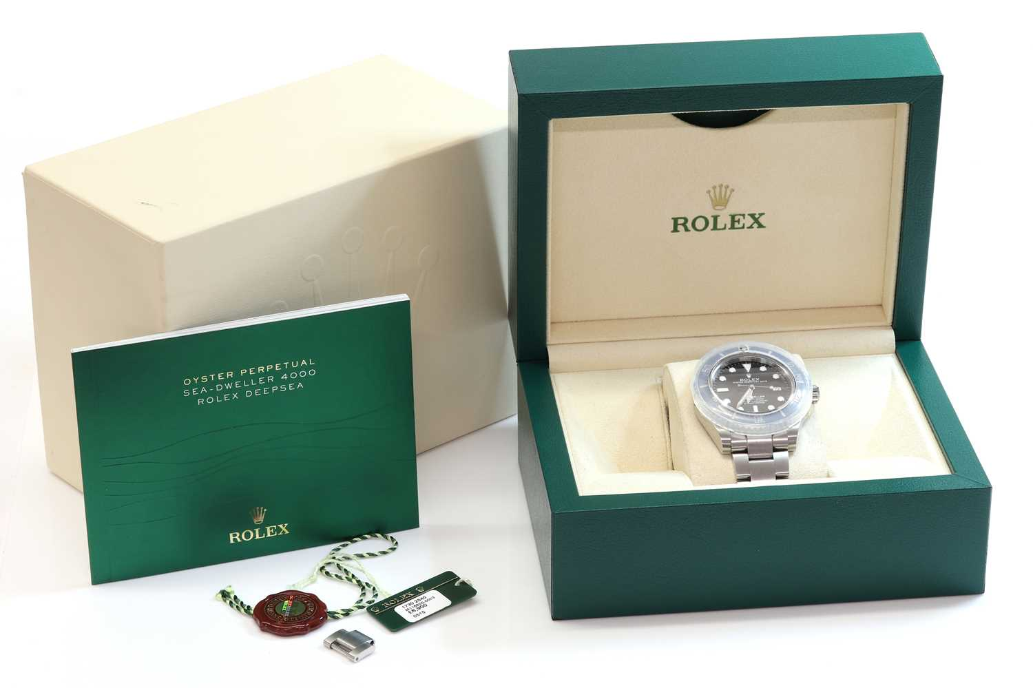 A gentlemen's stainless steel Rolex 'Oyster Perpetual Sea Dweller' automatic bracelet watch, c.2015, - Image 10 of 14