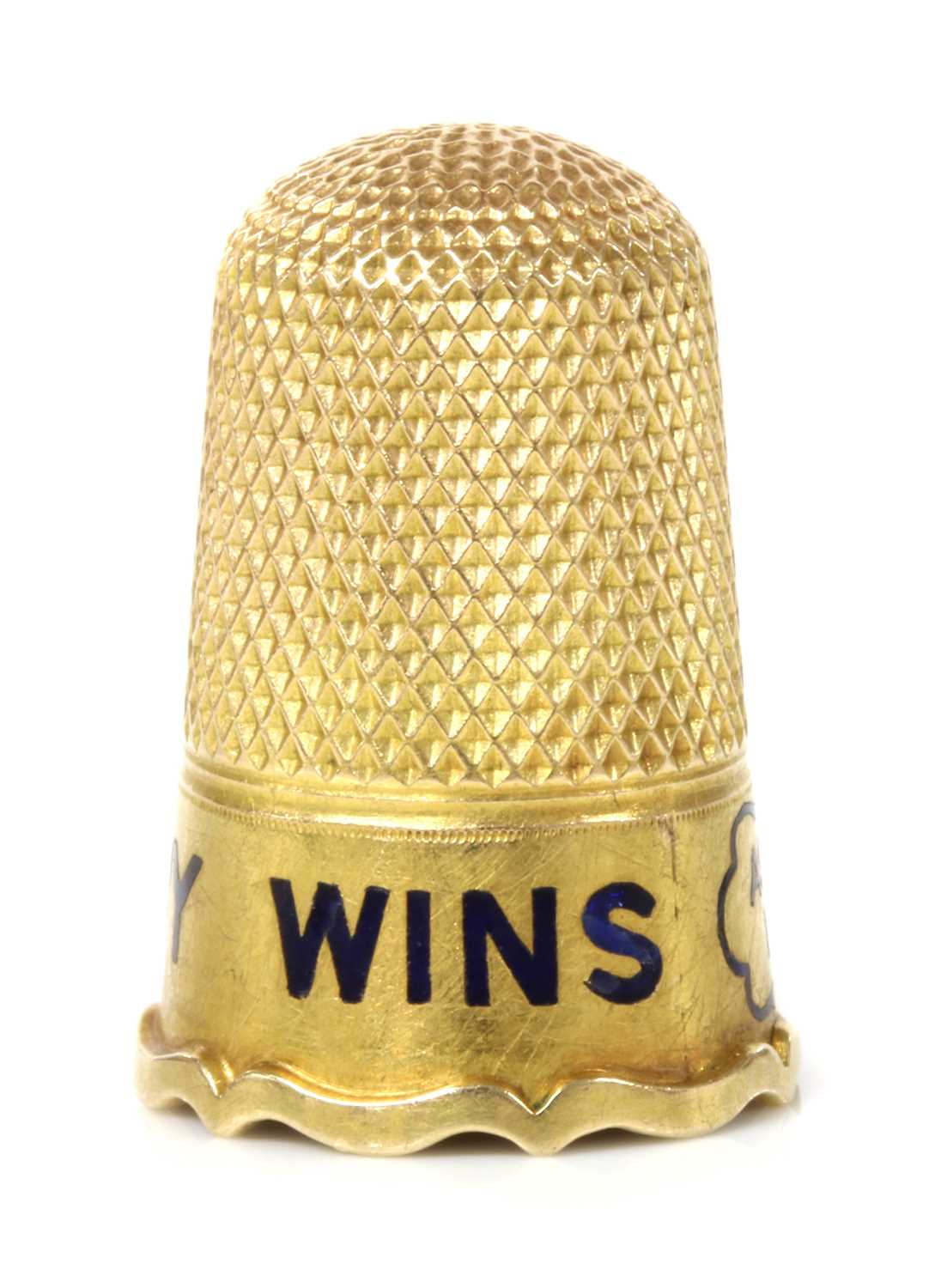 Of racing interest: a Victorian gold thimble, - Image 2 of 4