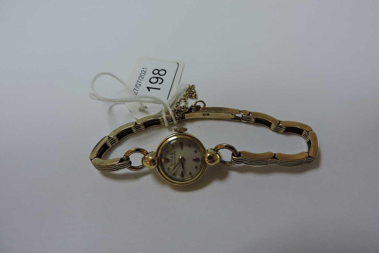A ladies' 18ct gold Rolex 'Precision' mechanical bracelet watch, - Image 2 of 4