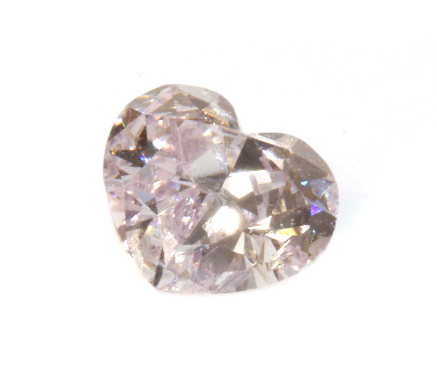 An unmounted heart shaped brilliant cut diamond, - Image 2 of 2