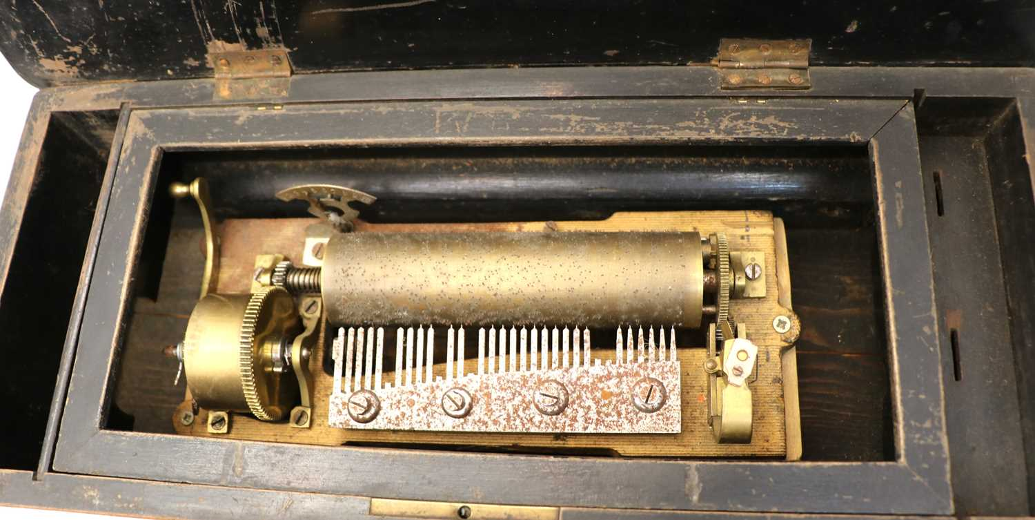 Three late 19th French cylinder music boxes - Image 2 of 4