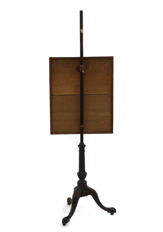 A Victorian mahogany pole screen - Image 4 of 4