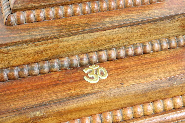 A hardwood Pooja Mandir or home temple, - Image 3 of 3