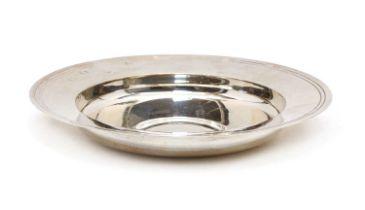 A modern silver Armada dish,
