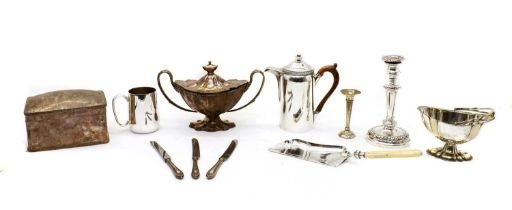 A large collection of silver-plated items