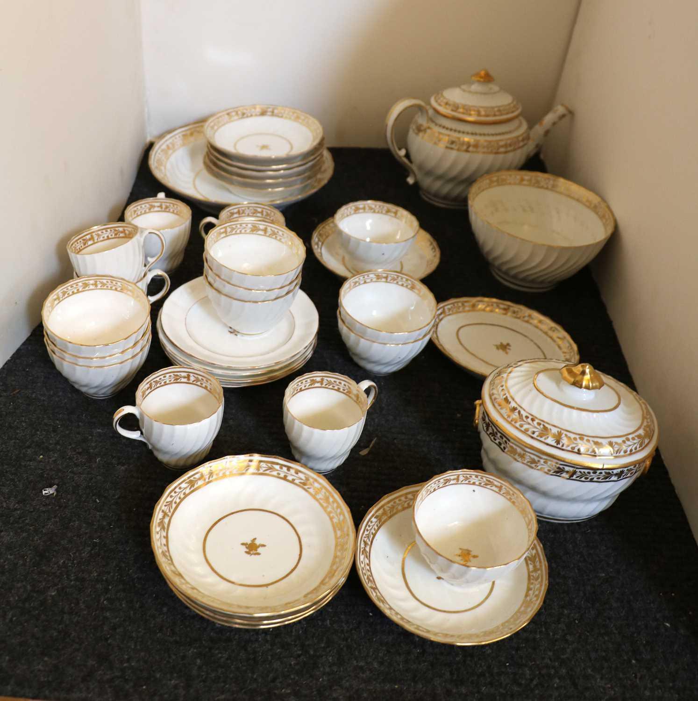 A Regency New Hall porcelain teaset, - Image 3 of 4