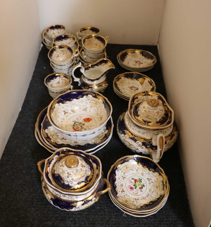 A Regency New Hall porcelain teaset, - Image 4 of 4
