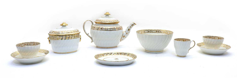 A Regency New Hall porcelain teaset,