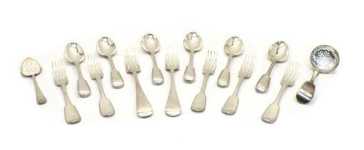 A large quantity of assorted silver flatware,