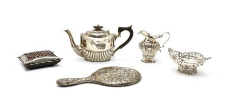 Five early 20th century silver items: