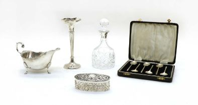 Collection of silver items,