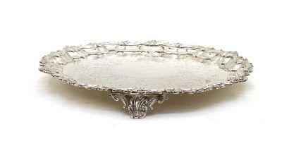 An early Victorian silver salver,