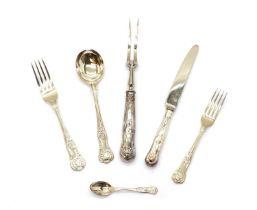 A silver canteen of cutlery,