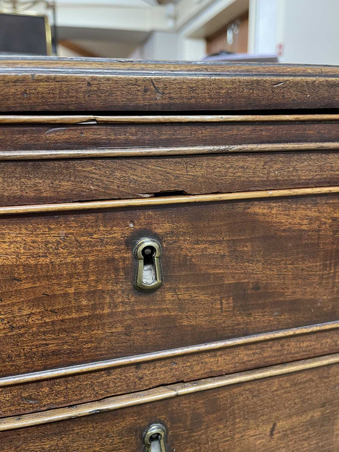 A George III mahogany caddy-top chest of drawers, - Image 11 of 48