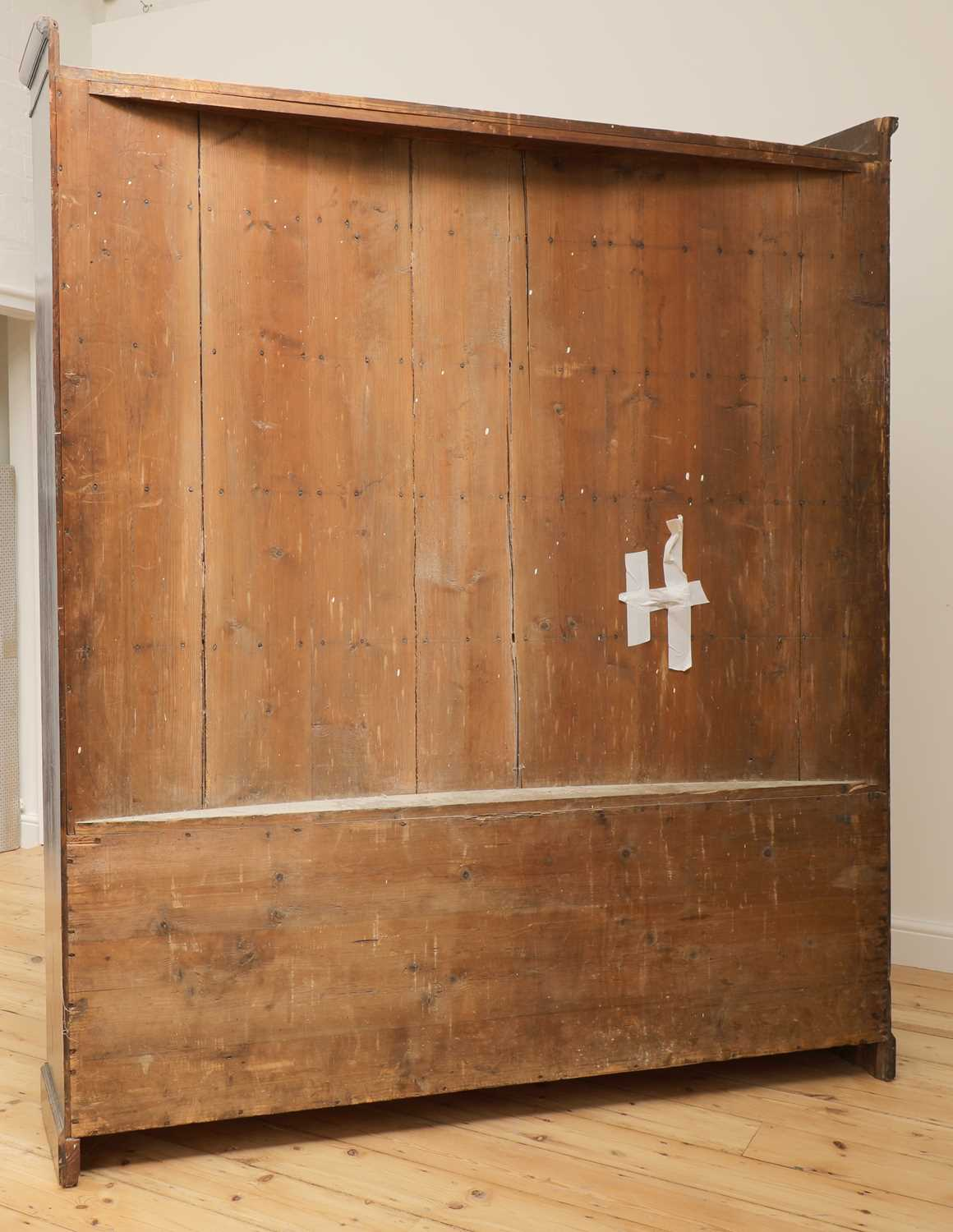 A pair of mahogany bow front bookcases, - Image 6 of 6