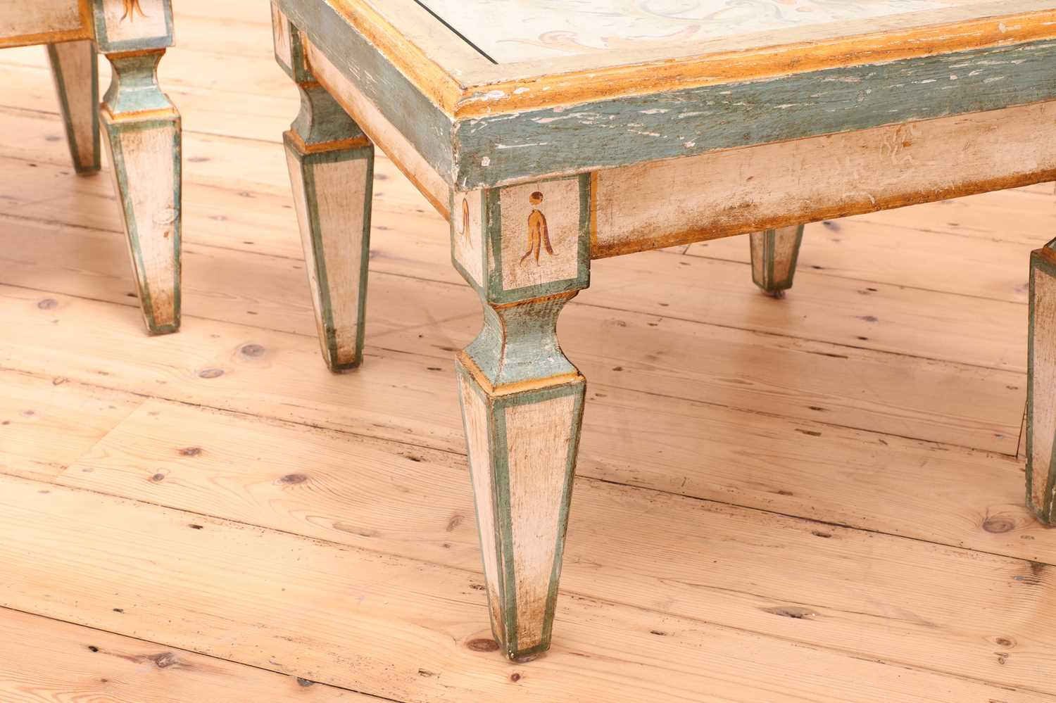 A pair of Continental painted wood low tables, - Image 7 of 7