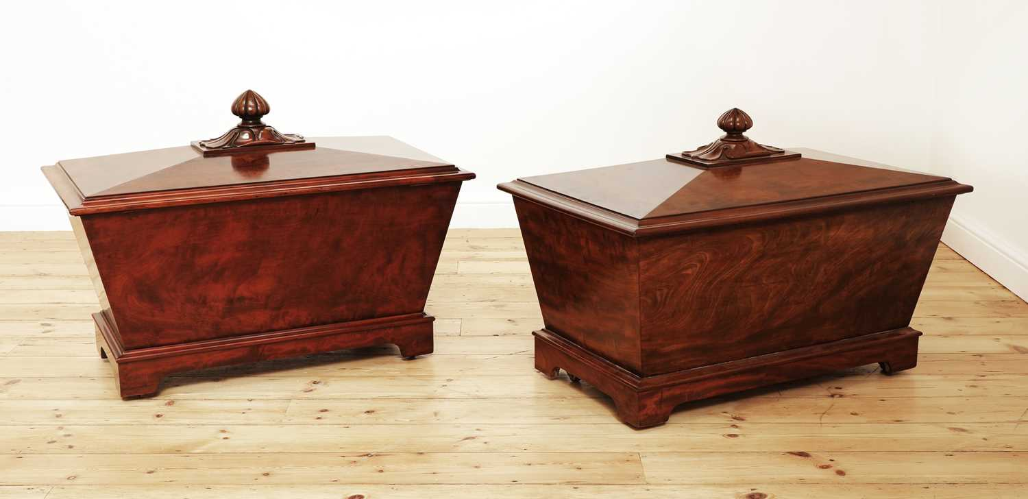 A near pair of mahogany wine coolers, - Image 3 of 10