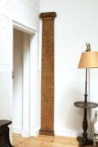 A carved oak pilaster,
