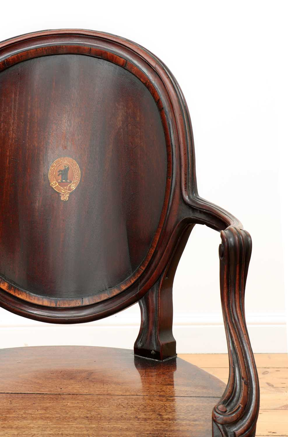 A pair of mahogany hall chairs, - Image 10 of 119