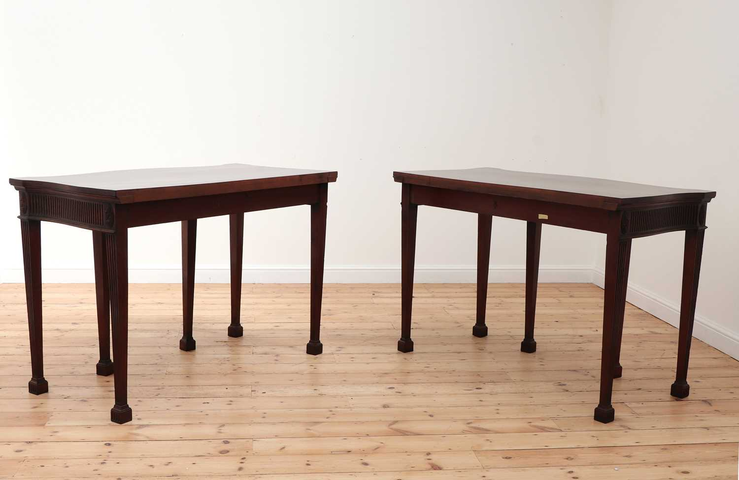 A pair of mahogany console tables, - Image 3 of 10