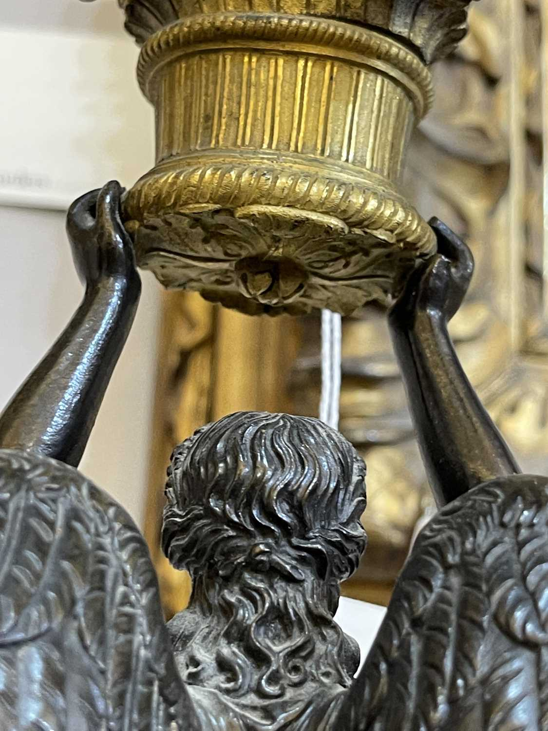 A pair of French Empire ormolu and bronze candelabra, - Image 15 of 30