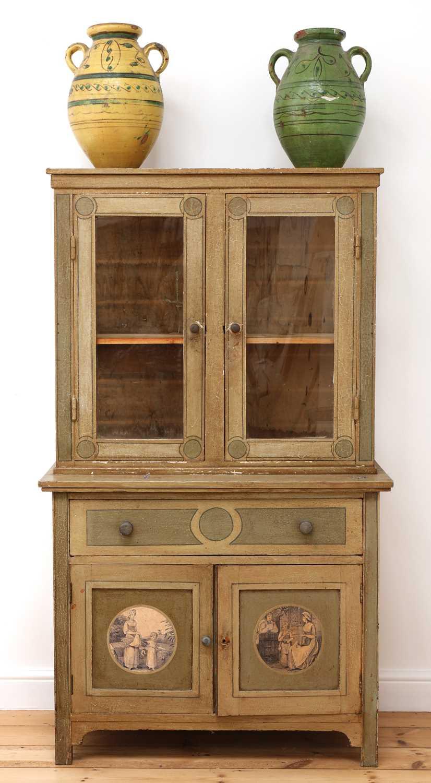 A painted oak larder cupboard, - Image 8 of 8