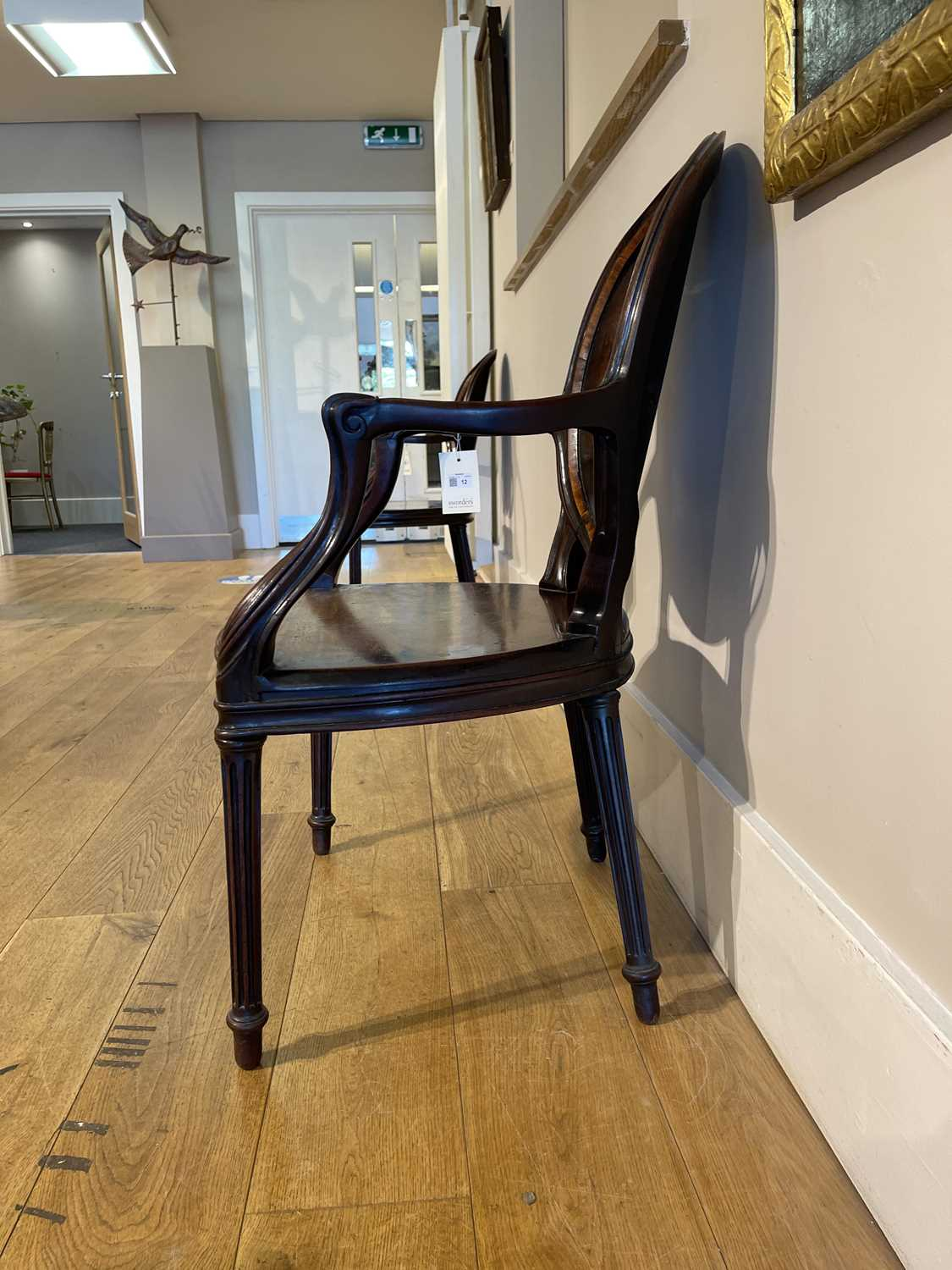 A pair of mahogany hall chairs, - Image 102 of 119