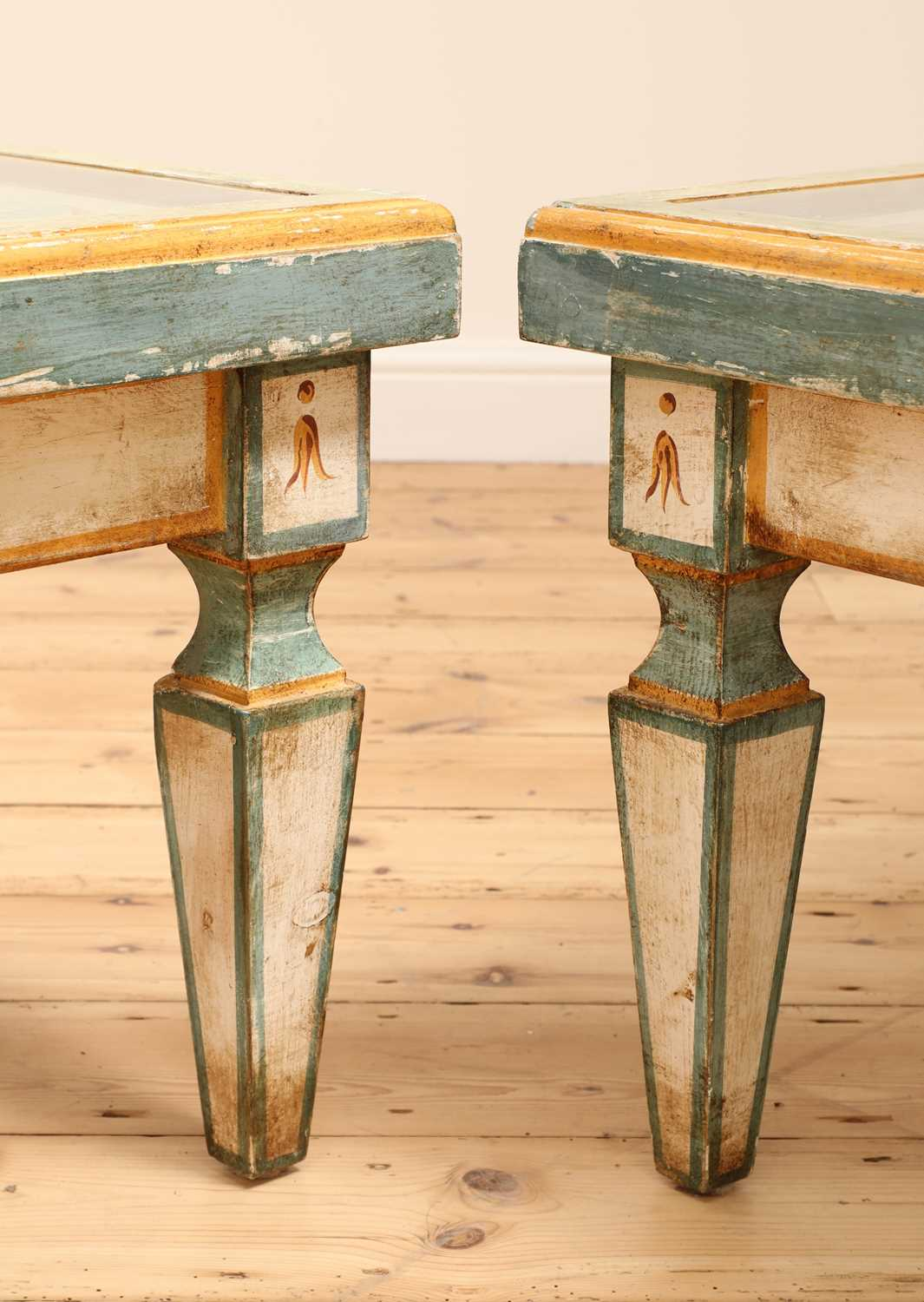 A pair of Continental painted wood low tables, - Image 5 of 7