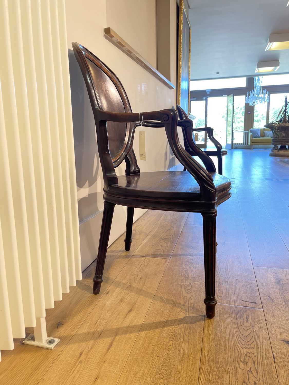 A pair of mahogany hall chairs, - Image 54 of 119