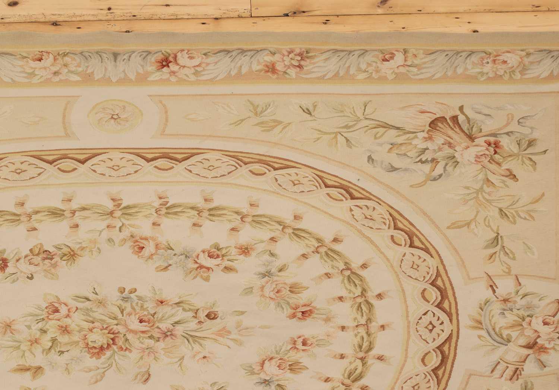 A flatweave Aubusson design rug - Image 3 of 6